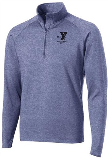 Picture of YMCA Unisex Wicking 1/4 Zip Pullover by Sport Tek ST850
