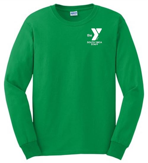 Picture of YMCA Unisex 100% cotton Long Sleeve Tee by Gildan 24000