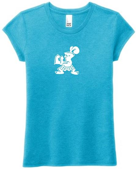 Picture of Incarnation Girls Perfect Tri Short Sleeve Tee by District DT130YG - Turquoise Frost
