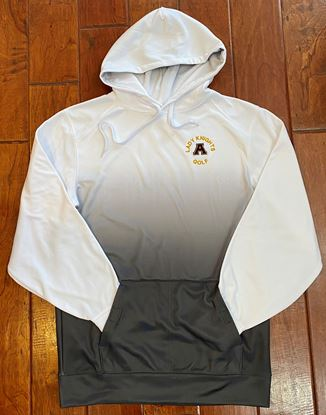 Picture of Alter Lady Knights Golf Unisex Ombre Hoodie by Badger 1403 - Grey Ombre ONLY 1 AVAILABLE, AS!