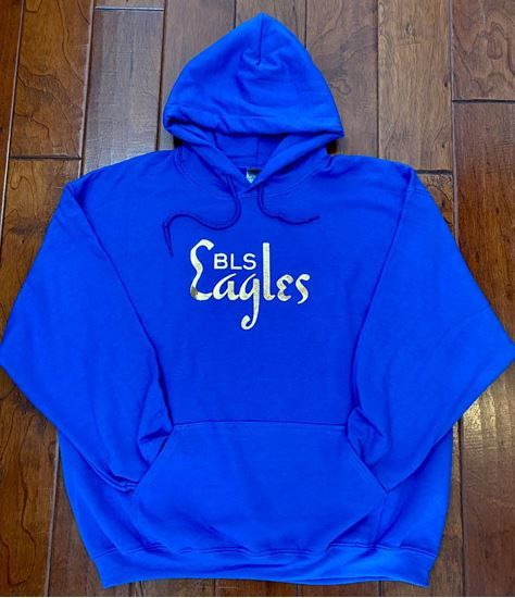Picture of Bishop Leibold Youth Gold Foil Hoodie by Jerzees  996Y - Royal ONLY 1 LEFT, SIZE YM