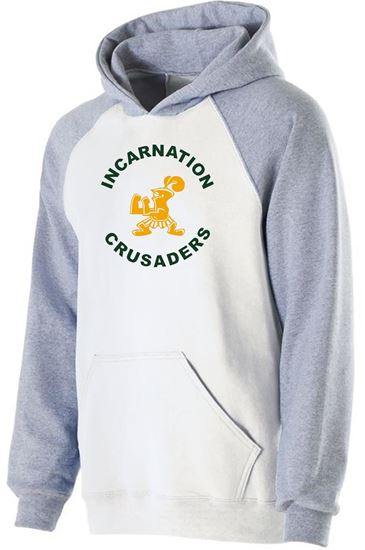 Picture of Incarnation Youth Banner Hoodie by Holloway 229279 White/Athletic Heather
