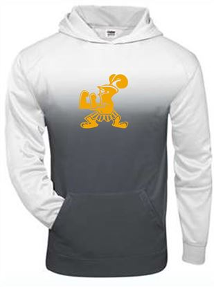 Picture of Incarnation Youth Ombre Hoodie by Badger 2403 - Grey Ombre