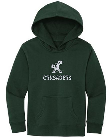 Picture of Incarnation Foil Logo Youth Fleece Hoodie by District DT6100Y - Forest Green