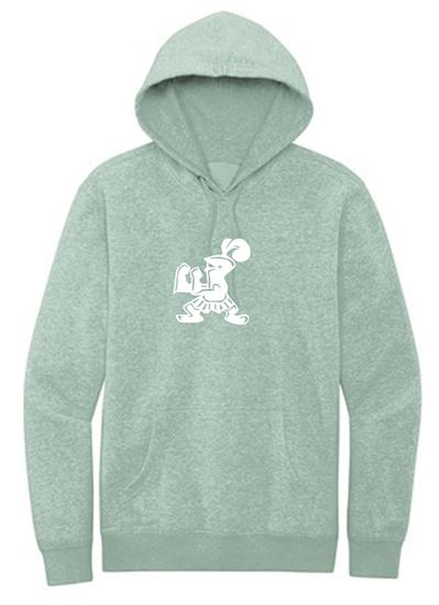 Picture of Incarnation Unisex Fleece Hoodie by District DT6100 - Heathered Dusty Sage or Heathered Olive