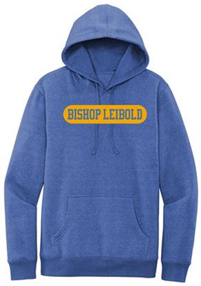 Picture of Bishop Leibold Youth Fleece Hoodie by District DT6100Y - Royal Frost or Heather Charcoal
