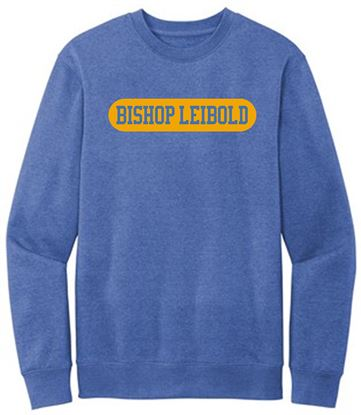 Picture of Bishop Leibold Unisex Ring Spun Cotton Fleece Crewneck Sweatshirt by District DT6104 Royal Frost or Heather Charcoal