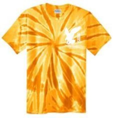 Picture of Bishop Leibold Youth AE Logo Short Sleeve Tie-Dye Tee by Port and Company PC147Y - Gold or Royal
