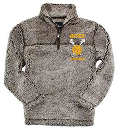 Picture of Alter Girls Lacrosse Unisex 1/4 Zip Sherpa by Boxercraft Q10 - Frosty Chocolate