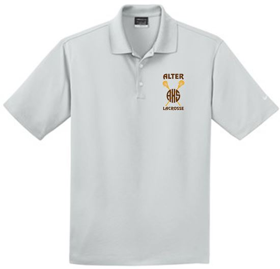 Picture of Alter Girls Lacrosse Unisex Nike Dri-FIT Micro Pique Polo 363807 - Gold or Wolf Grey