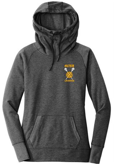 Picture of Alter Girls Lacrosse Ladies Tri-Blend Fleece Pullover Hoodie by New Era LNEA510 - Black Heather