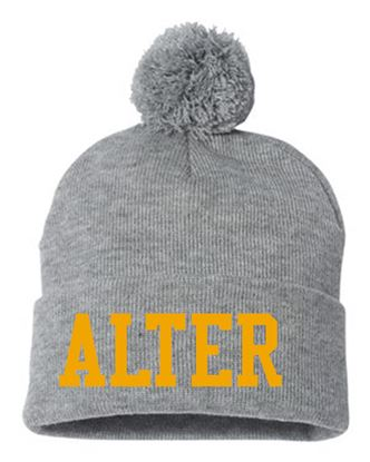 Picture of Alter Girls Lacrosse Pom Knit Hat by Sportsman SP15 - Grey