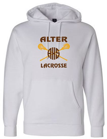 Picture of Alter Girls Lacrosse Heavyweight Hoodie by Independent Trading Co. IND4000 - White