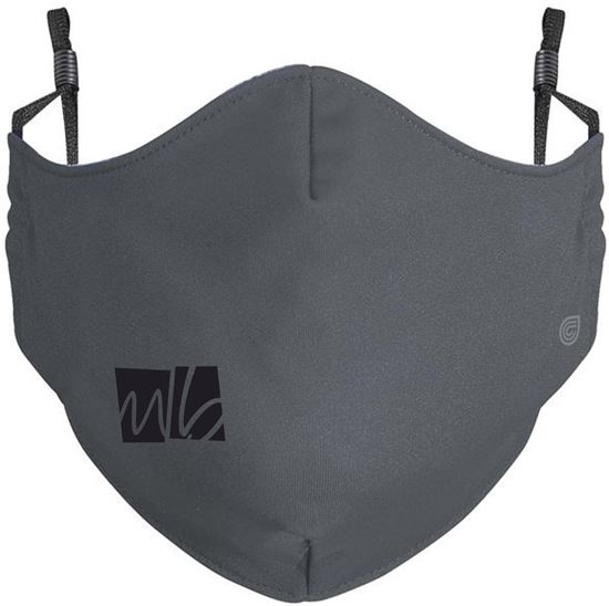 Picture of McGohan Brabender Youth or Adult Coolcore Adjustable Mask by Holloway 222508/222608 - Gray