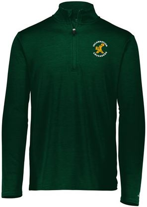 Picture of Incarnation Unisex 1/4 Zip Pullover by Russell QZ7EAM - Dark Green