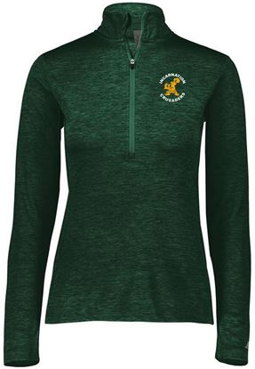 Picture of Incarnation Ladies 1/4 Zip Pullover by Russell QZ7EAX - Dark Green