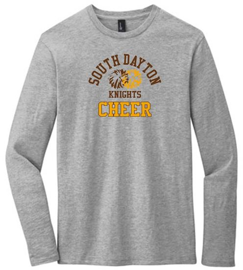 Picture of South Dayton Knights Cheer Unisex Long Sleeve Tee by District DT6200 - Light Heather Grey