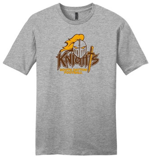 Picture of South Dayton Knights Football Unisex Short Sleeve Very Important Tee by District DT6000 - Light Heather Gray