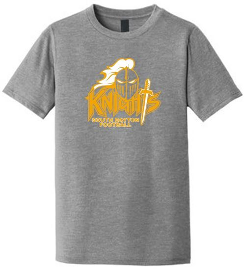 Picture of South Dayton Knights Football Youth Short Sleeve Tee by District DT130Y - Grey Frost
