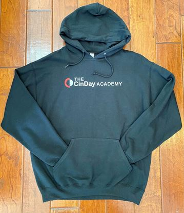 Picture of CinDay Academy Unisex Cotton Solid Hoodie by Jerzees 996M - Black ONLY 1 LEFT, SIZE L