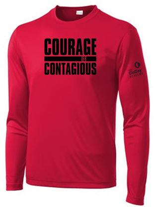 Picture of CinDay Youth Long Sleeve Tee by Sport Tek YST350LS - Red