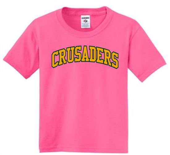 Picture of Crusaders Unisex Short Sleeve Tee by Jerzees 29M - Neon Pink