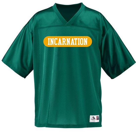 Picture of Incarnation Youth Stadium Replica Jersey by Augusta 258 - Dark Green