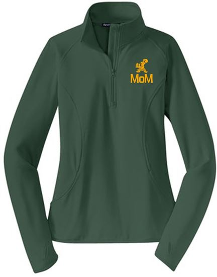Picture of Incarnation Mom Ladies Wicking 1/4 Zip Pullover by Sport Tek LST850 - Hunter or White
