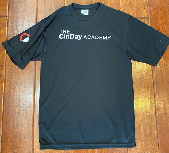 Picture of Copy of CinDay Academy Youth Attain Tee by Holloway 4791 - Black ONLY 1 LEFT, SIZE YM