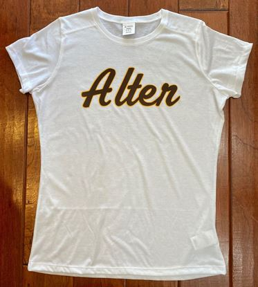 Picture of Alter Ladies Tri-Blend Tee Shirt by Augusta 3067 - White
